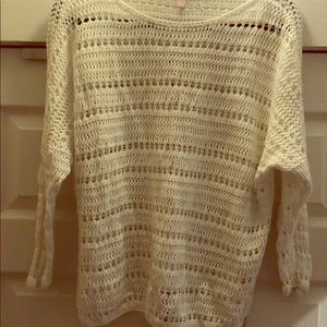 Woven swimsuit cover/sweater